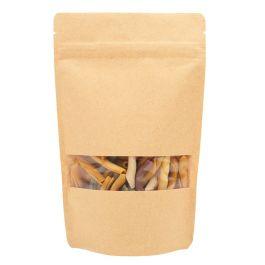 "5 1/8"" x 3 1/8"" x 8 1/8"" (Outer Dimensions) Kraft Zipper Pouch Bags (100 Pieces) [ZBGW3K]"