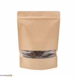 "81/4""x 31/2""x 111/2""(Outer Dimensions) Kraft Zipper Pouch Bags (100 Pieces) [ZBGW5K]"