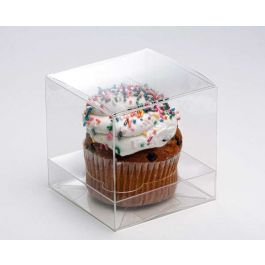 "4"" x 4"" x 4"" Single Jumbo Cupcake Box Set (100 Sets) [CBS208]"