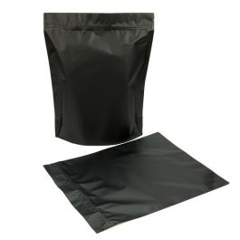 "12"" x 5"" x 14 3/4"" (Outer Dimensions) Matte Black Zipper Pouch Bags (50 Pieces) [ZBGBB8]"