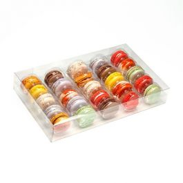 "7 1/2"" x 2"" x 12 11/16"" French Macaron Box Set for 25 (25 Sets) [MBS5]"