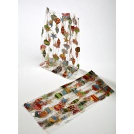 "4"" x 2 1/2"" x 9 1/2"" Merry Ornaments Printed Gusset Bags, 1.2 Mil (100 Pieces) [G4ORN]"
