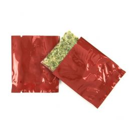 "2"" x 2 1/4"" Red Metallized Heat Seal Bags (100 Pieces) [SMB22QR]"