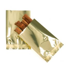 "2"" x 3"" Shimmer Gold Metallized Heat Seal Bags (100 Pieces) [SMB23SG]"