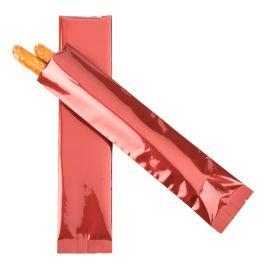 "2"" x 8"" Premium Red Metallized Heat Seal Bags (100 Pieces) [SVP28R]"