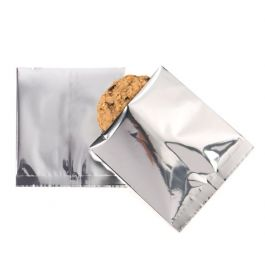 "4"" x 4"" Premium Silver Metallized Heat Seal Bags (100 Pieces) [SVP44S]"
