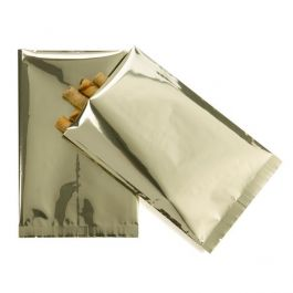 "4"" x 6"" Premium Shimmer Gold Metallized Heat Seal Bags (100 Pieces) [SVP46G]"