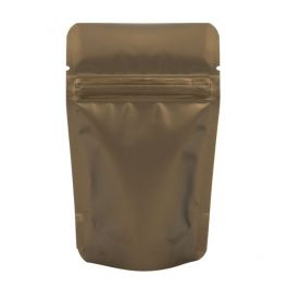 "3 1/8"" x 2"" x 5 1/8"" (Outer Dims) Bronze Metallized Zipper Pouch Bags (100 Pieces) [ZBGM1BZ]"