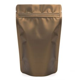 "5 1/8"" x 3 1/8"" x 8 1/8"" (Outer Dims) Bronze Metallized Zipper Pouch Bags (100 Pieces) [ZBGM3BZ]"