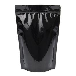 "9"" x 4 3/4"" x 13 1/2"" (Outer Dimensions) Black Metallized Zipper Pouch Bags (100 Pieces) [ZBGM6B]"