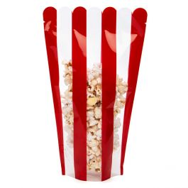 "6 1/2"" x 4"" x 10 1/2"" Popcorn Shaped Pouch (100 Pieces) [SP4P]"