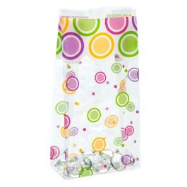 "3 1/2"" x 2"" x 7 1/2"" Mod Dots Everyday Printed Gusset Bags, 1.2 Mil (100 Pieces) [G3MDE]"