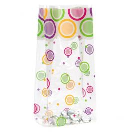 """5"""" x 3"""" x 11 1/2"""" Mod Dots Everyday Printed Gusset Bags 1.2 Mil (100 Pieces) [G5MDE]"""