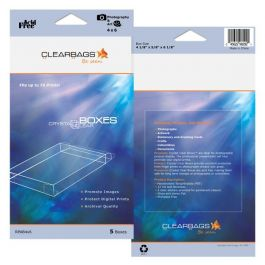 "8 5/8"" x 5/8"" x 11 1/8"" Crystal Clear Photo Boxes Retail Pack of 5 (1 Pack) FPB65 [RPAB8X11]"
