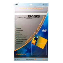 "11 7/16"" x 17 1/4"" Crystal Clear Protective Closure Bags Retail Pack of 25 (1 Pack) [RPA11X17]"