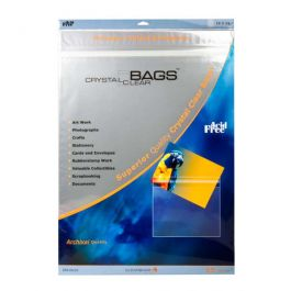 "18 7/16"" x 24 1/4"" Crystal Clear Protective Closure Bags Retail Pack of 25 (1 Pack) [RPA18X24]"