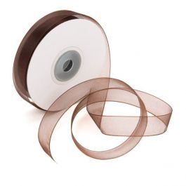 "5/8"" x 75' Chocolate Mono Ribbon (1 Piece) [RIBCHC]"
