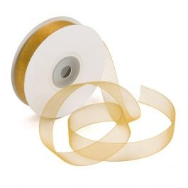 "5/8"" x 75' Old Gold Mono Ribbon (1 Piece) [RIBOGD]"