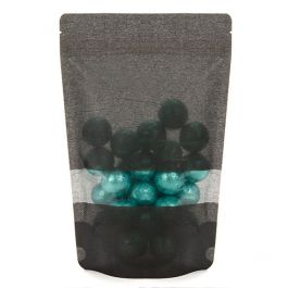 "5 7/8"" x 3 1/2"" x 9 1/8"" (Outer Dims) Black Rice Paper Stand Up Pouch (100 Pieces) [ZBGR7B]"