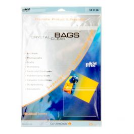"""12 7/16"""" x 16 1/4"""" Crystal Clear Protective Closure Bags Retail Pack of 25 (1 Pack) [RPA12X16]"""