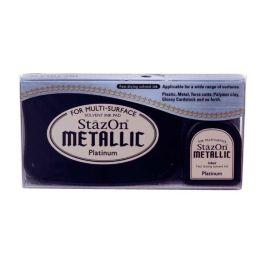 Metallic Platinum StazOn Ink Pad and Refill (1 Piece) [SZ195]
