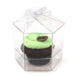 "3.5"" x 3.75"" x 3.5"" Twist Top Cupcake Box Set for Singles (100 Sets) [CBS238]"