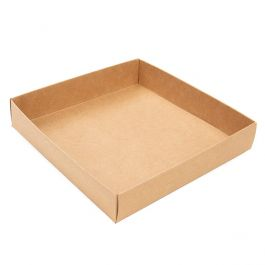 "5 1/8"" x 1"" x 5 1/4"" Kraft Paper Box Bottom (25 Pieces) [KR357]"