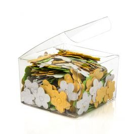 "3"" x 3"" x 2"" Crystal Clear Value Boxes (50 Pieces) [VB298]"
