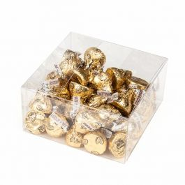 "4"" x 4"" x 2"" Crystal Clear Value Boxes (50 Pieces) [VB302]"