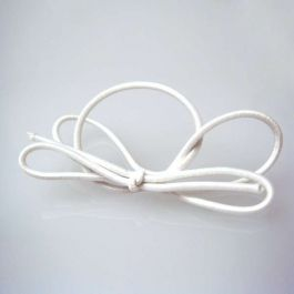 "8"" Solid White Stretch Loop (50 Pieces) [8SW]"