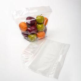 "8"" x 4 1/16"" x 9"" Crystal Clear Zip Handle Flat Bottom Bag (100 Pieces) [ZFG3]"