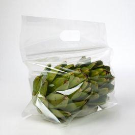 "11"" x 4 1/16"" x 6"" Crystal Clear Zip Handle Flat Bottom Bag (100 Pieces) [ZFG4]"