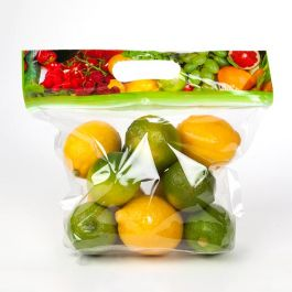 """9"""" x 3 1/4"""" x 7 1/4"""" Produce Zip Handle Flat Bottom Bags with Vents (100 Pieces) [ZFG6V]"""