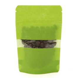 "4"" x 2 3/8"" x 6"" (Outer Dims) Green Rice Paper Stand Up Pouch (100 Pieces) [ZBGR2GR]"