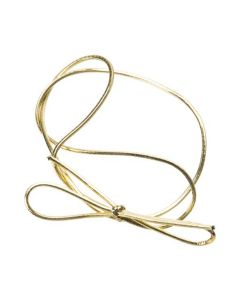 Metallic gold stretch loop