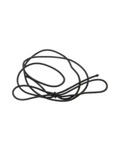 """16"""" Solid Black Stretch Loop (50 Pieces) [16SB]"""