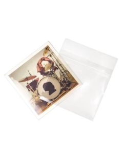 "7 3/8"" x 7"" Clear 45 Album Sleeve"