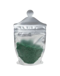 "5 1/2"" x 2 3/8"" x 9"" (Outer Dims) Apothecary Jar Shaped Pouch, Frosted Front Panel (100 Pieces) [SP3FJ]"