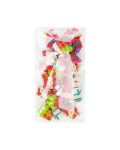 Holiday erasers inside protective packaging