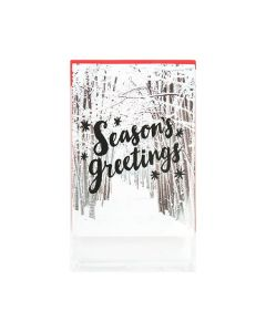 "5 15/16"" x 7 7/8"" Holiday cards in clear bag"