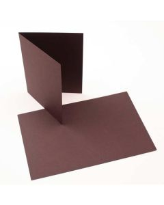 "A2 5 1/2"" x 4 1/4"" Basis Blank Card Brown (50 Pieces) [PC212]"