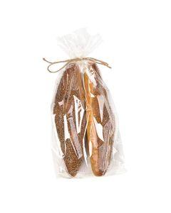 Packaged bread inside clear bag