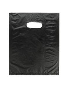"""8"""" x 10"""" Black Handle Bag 0.7 Mil HDPE (100 Pieces) [H810BK3]"""