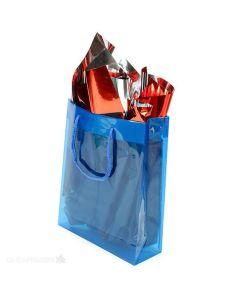 Blue handle bag