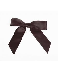 "3 1/2"" Espresso Pre-tied Bow (100 Pieces) [BOW7ES]"