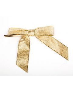 "3 1/2"" Metallic Gold Pre-tied Bow (100 Pieces) [BOW7MG]"