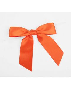 "3 1/2"" Torrid Orange Pre-tied Bow (100 Pieces) [BOW7TO]"