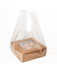 Clear poly handle bag