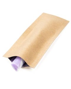 "1 1/2"" x 5"" Kraft Single Use Child Resistant Bags (100 Pieces) [CRB5K]"