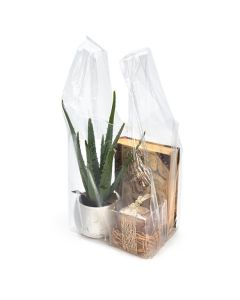 "clear poly bag | 10"" x 9"" x 22.5"""